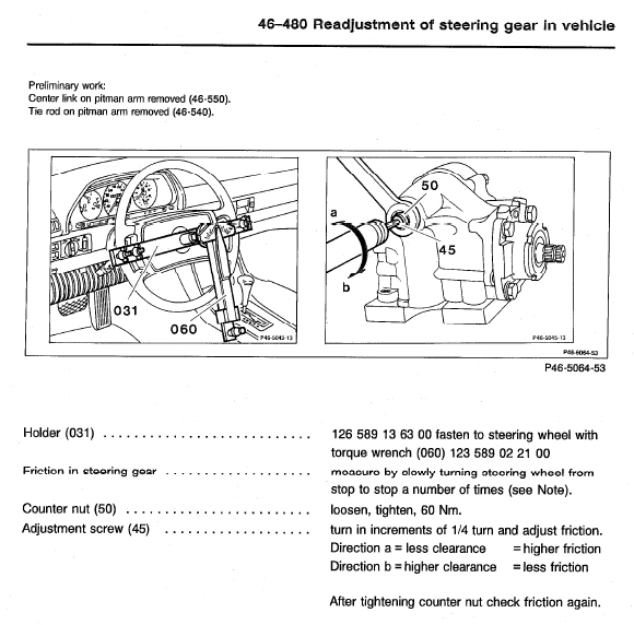 How to reseal a MB steering gear